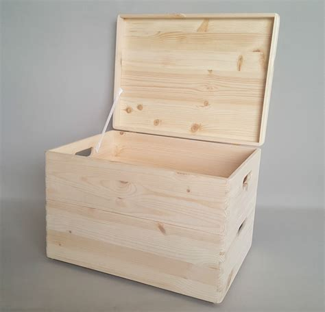 wooden chest trunk 2x wooden box storage trunk handles chest boxes hinges