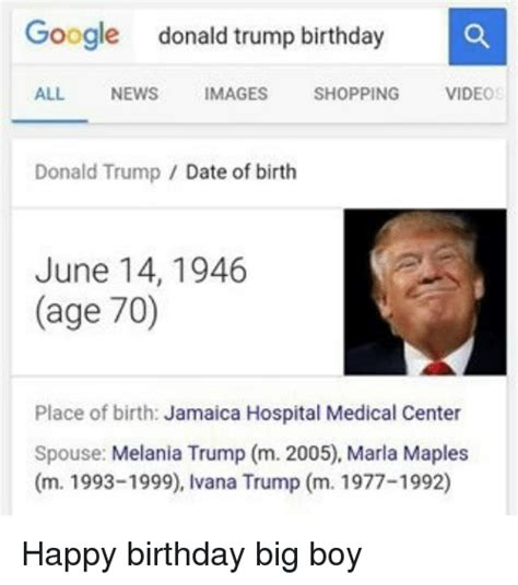 Donald Trump Birth Date | 25 best memes about happy birthday donald trump and