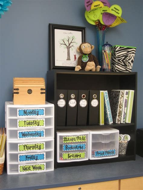 The Creative Chalkboard Classroom Tour Pictures Galore Classroom Desk Organization Ideas