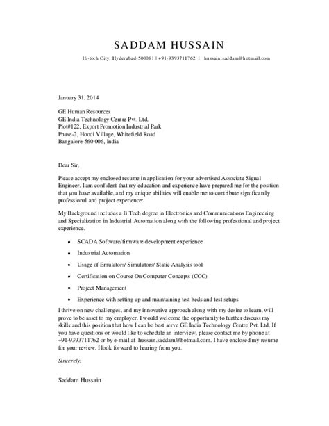 Electronics Repair Cover Letter by Cover Letter For Electronics Communications Student