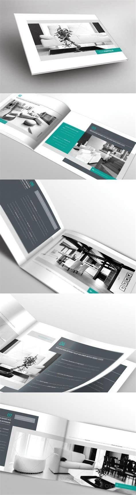 portfolio brochure template digital graphic design