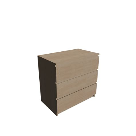 malm 3 drawer chest birch veneer design and decorate