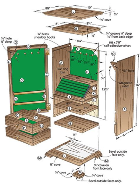 plans  jewelry cabinet  woodworking