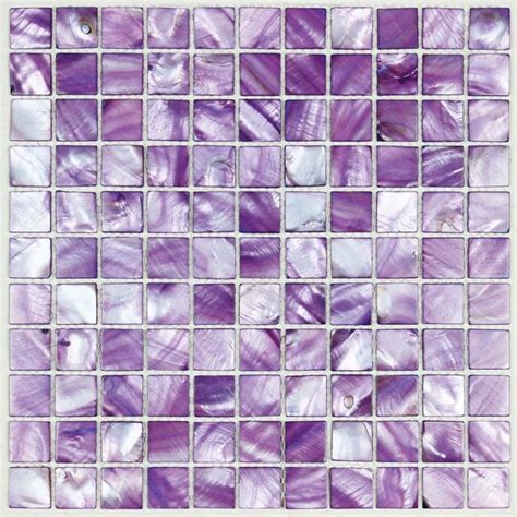 painted colorful shell tile purple mother of pearl tile