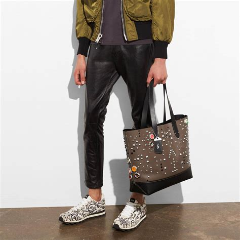 Vintage Slop Stud Navy Bagus Termurah gotham tote bagsin glovetanned leather with studs s totes duffles