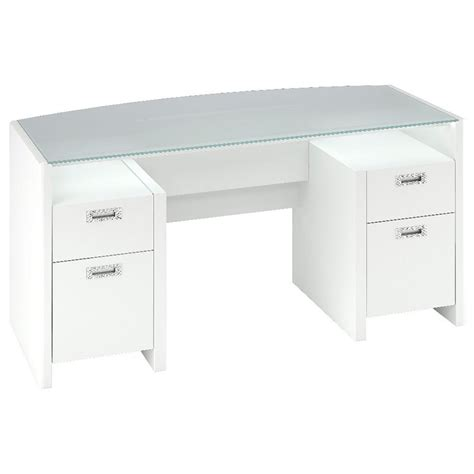 Office Desks Ireland New York Skyline Bow Front Desk In Plumeria White Ki10202 03k