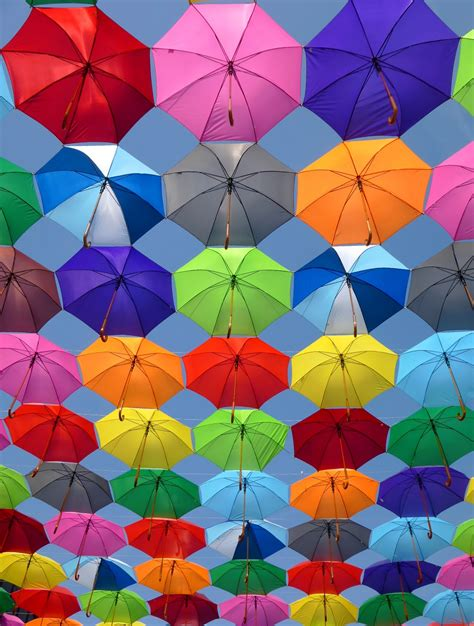 colorful colors pink grey and green folding umbrella painting 183 free stock