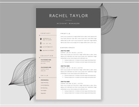 Cover Letter Template Editable 20 Resume Cover Letter Template Word Eps Ai And Psd Format Graphic Cloud