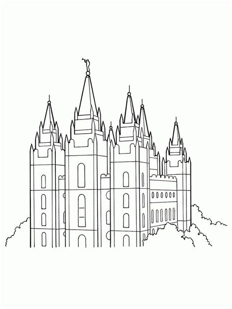 Lds Temple Coloring Pages Coloring Home Lds Temple Template