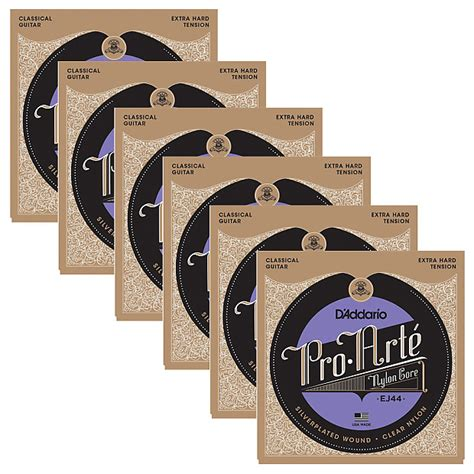 D Addario Pro Arte Classical Guitar Strings - 6 sets of d addario ej44 pro 233 tension
