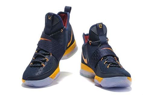 blue and gold nike basketball shoes nike zoom lebron xiv 14 navy blue gold basketball