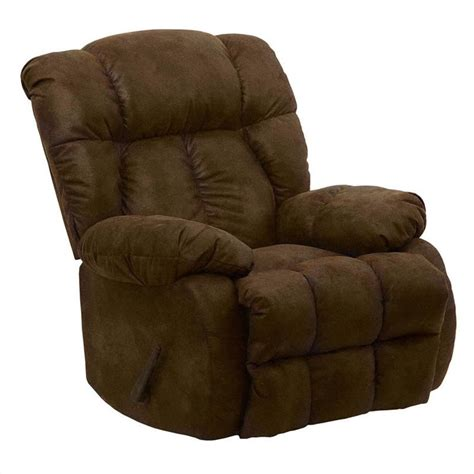 free recliner chairs catnapper laredo chaise rocker recliner chair in camel