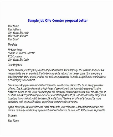 job offer proposal unique sample proposal fer letter