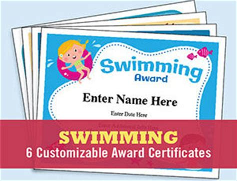 swimming award certificate template free certificates templates awards for sports biz and more