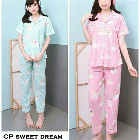 Baju Tidur Piyama Katun Jepang piyama baju tidur daster cewek motif daftar update harga