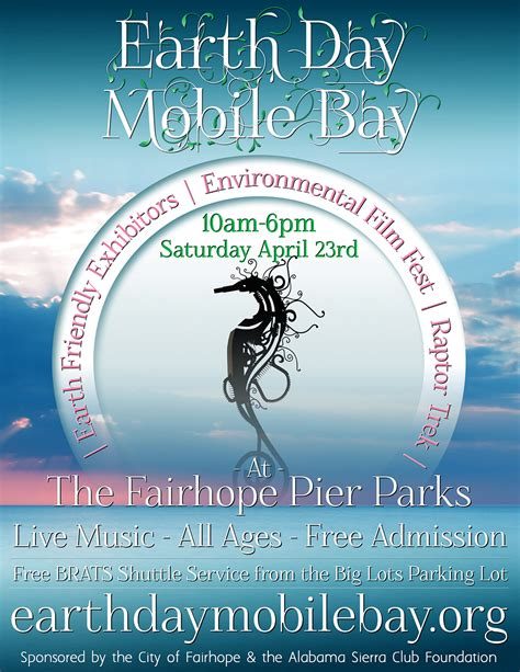 mobile day earth day mobile bay poster