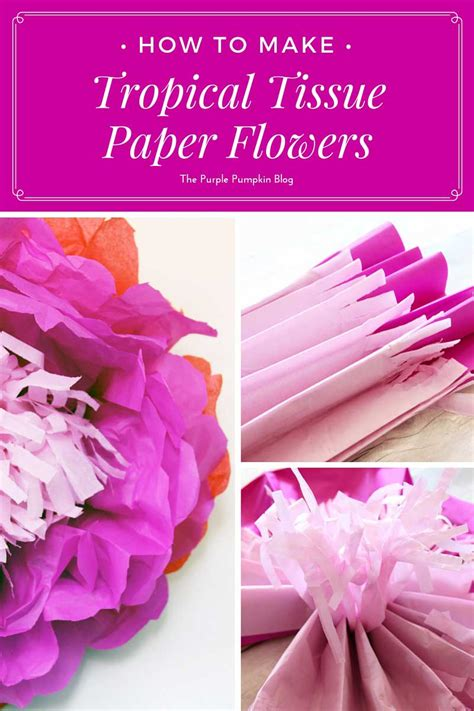 How To Make A Tissue Paper Flower - how to make tropical tissue paper flowers 187 the purple