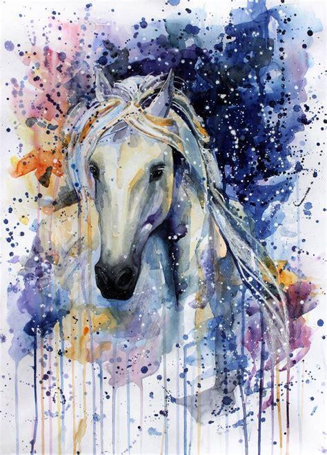watercolor horse tutorial m 225 s de 25 ideas incre 237 bles sobre dibujos de caballo en