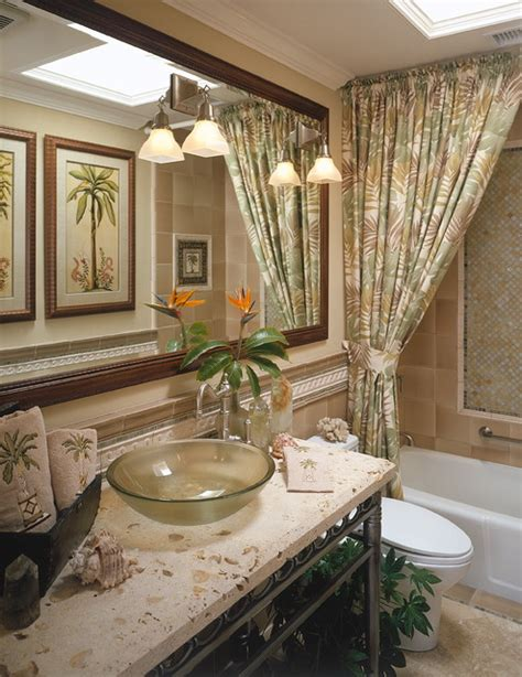 tropical mirrors bathroom fleming guest bath tropical bathroom san diego by