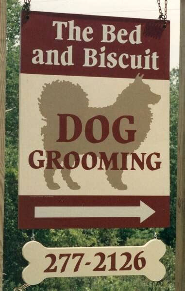 bed and biscuit business signs