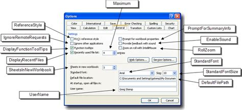 how to use microsoft excel to manage your life using scripts to manage excel s general options