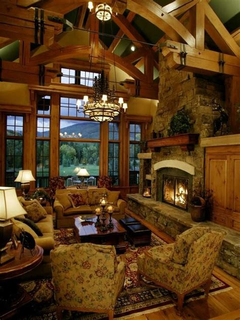 log cabin living room interior designs i