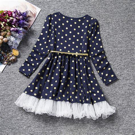 Dress Tutu Motif Polka Import Anak polka dot sleeve lace o neck dress belt voile tutu dress clothes ebay
