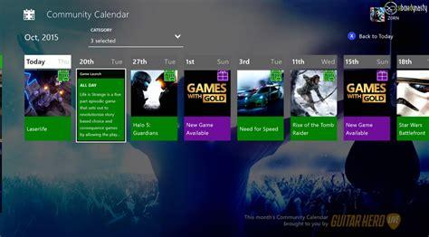 Xbox One Offline Fast Respon 48 Jam xbox one dashboard community kalender im neuen dashboard erste screenshots f 252 r euch