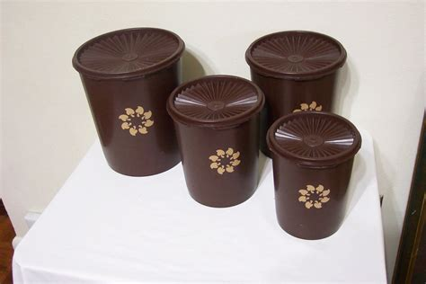 Tupperware Canister vintage tupperware canister set of 4 with seralier lids