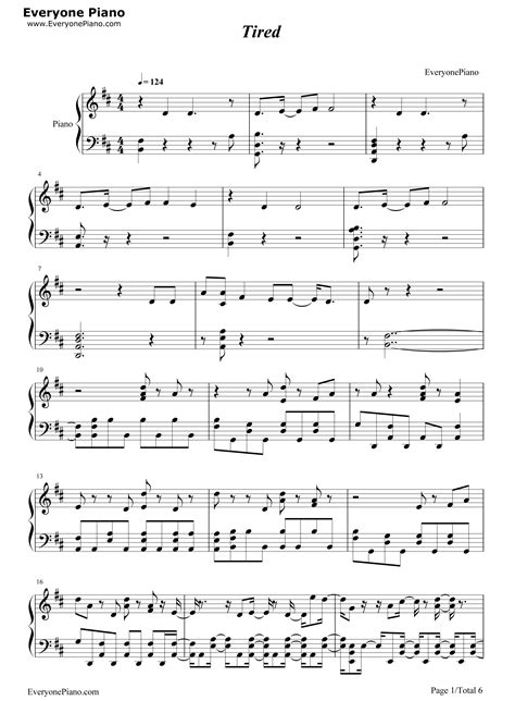 alan walker tired chord tired alan walker stave preview 1 free piano sheet music