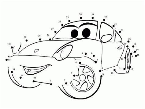 coloring pictures of cars 2 the movie cars 2 unisci i puntini e colora la macchinina disegni