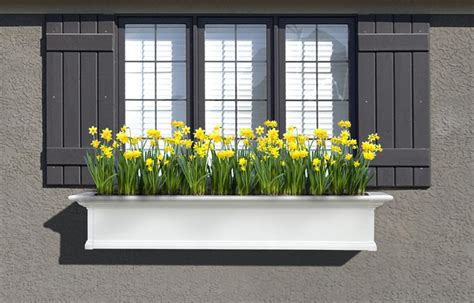 A Window Box Planter by Mayne 5 Ft Window Planter Box White With Wall