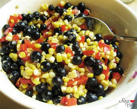 sugar betty corn and blueberry salad