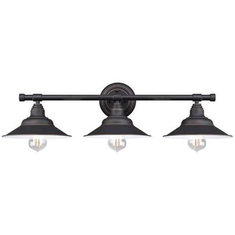 Black Vanity Light Fixtures Westinghouse Deansen Rubbed Bronze 3 Light Vanity Light At Black Vanity Light Fixtures