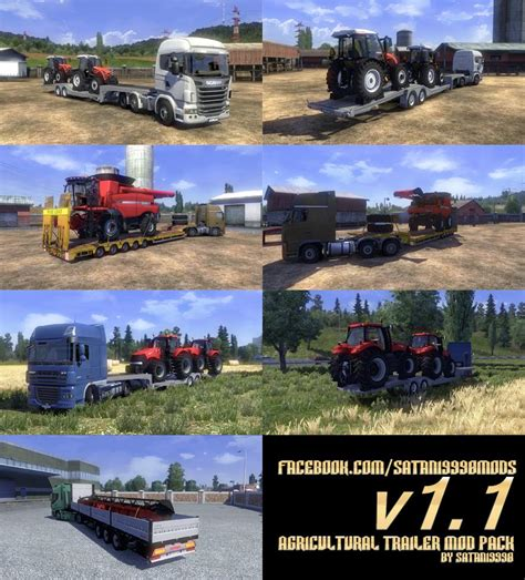 agricultural trailer mod pack  modhubus
