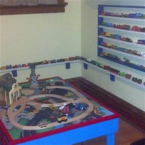 train bedroom for the home pinterest train track shelf for thomas the train kid s room