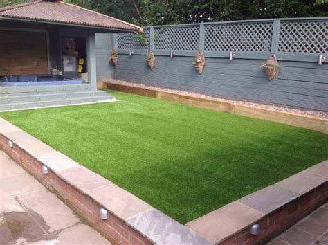 Lights In Railway Sleepers by Lawn Land Artificial Grass Artificial Grass Supplier In