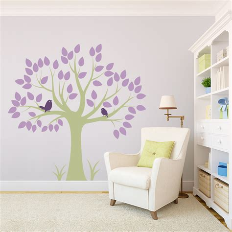 bird and tree wall stickers two birds in a tree wall decal
