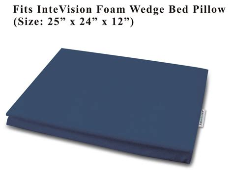 intevision foam wedge bed pillow amazon com intevision foam wedge bed pillow 25 quot x 24 quot x