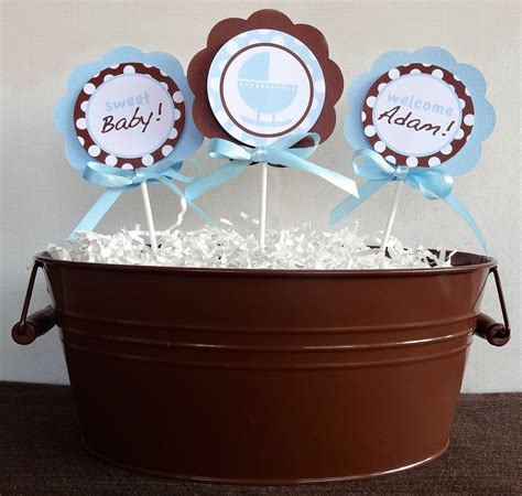 Brown And Baby Blue Baby Shower Decorations by Blue And Brown Baby Shower Decorations Best Baby Decoration