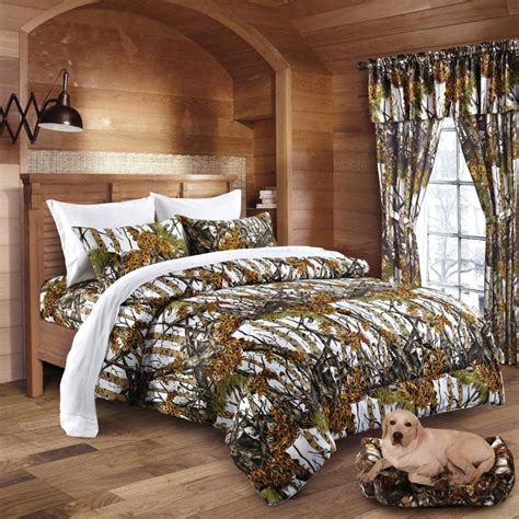 Camouflage Bed Set King Camo 13pc Comforter Bed Set Camouflage Curtains Sheets Ebay