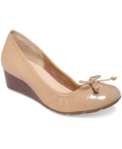 Sale Wedges Tali Ntb03 cole haan air tali wedges in beige sandstone lyst