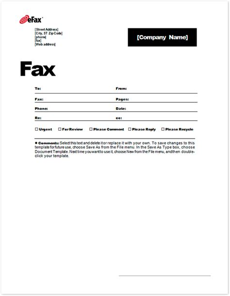 fax cover letter word template 6 fax cover sheet templates excel pdf formats