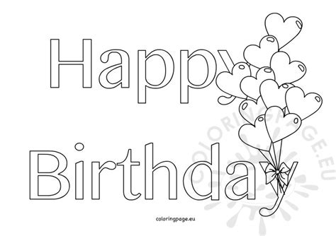 happy birthday coloring pages printable sheets for kids