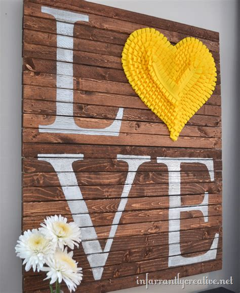 Diy pallet valentine art refurbished ideas
