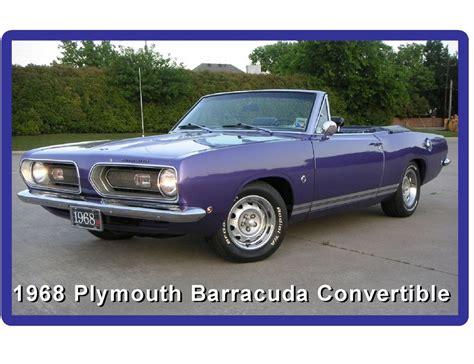 plymouth tool shop 1968 plymouth barracuda convertible auto refrigerator