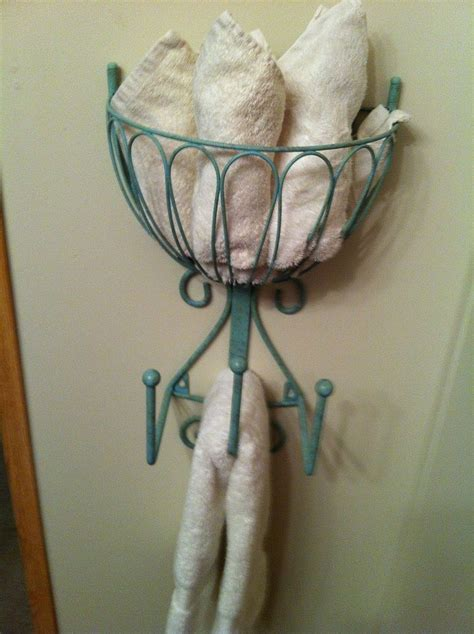 hand towel racks for bathrooms hometalk recycled hose holder to towel rack for my small