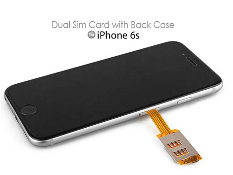 dual sim card for iphone 6s with back