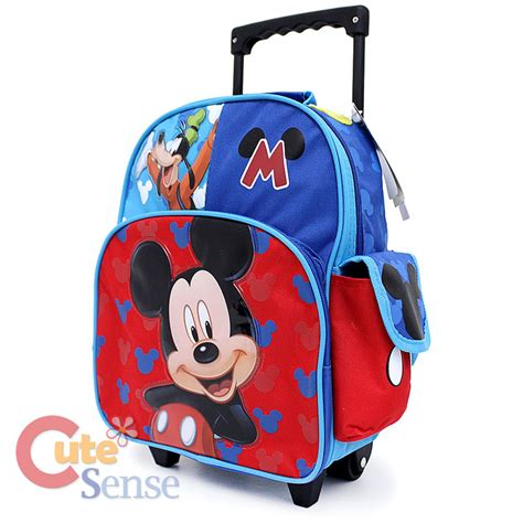 Mickey Mouse Toddler School Bag disney mickey mouse roller backpack 12 quot toddler small bag with goofy ebay