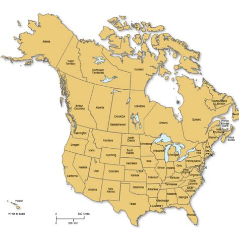 map usa and canada with provinces and states usa and canada powerpoint map with states provinces